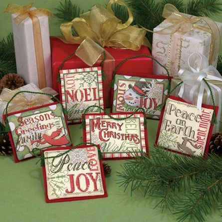 Beautiful collection of Christmas sayings stitched together