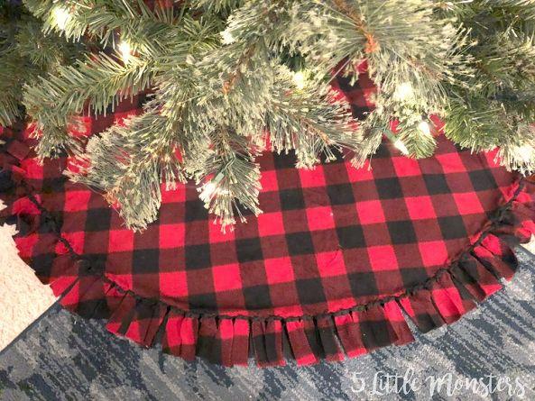 Christmas tree skirt made out of fleece