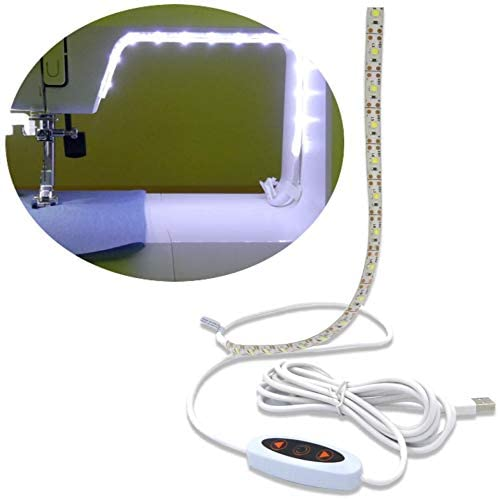 LED lighting strip for sewing machine- helps sewers see much better
