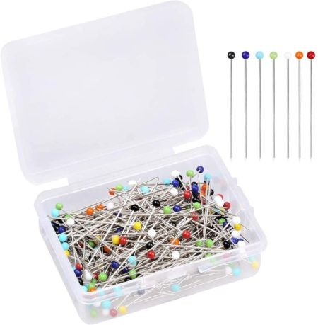 Sewing Pins in a transparent container