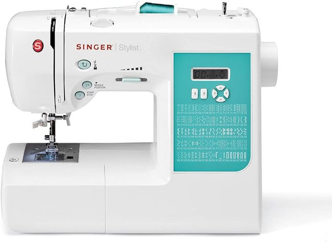 White Singer sewing machine- Singer Stylist 7258