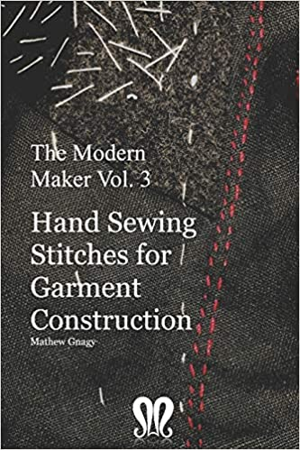 The Modern Maker book cover, on hand sewing stitches for making clothes
