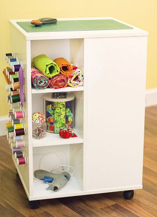 White sewing cabinet best for those with a small room or limited space