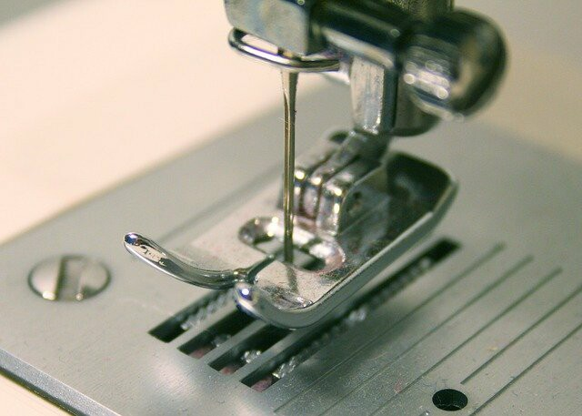 Sewing machine - closeup view of its needle section
