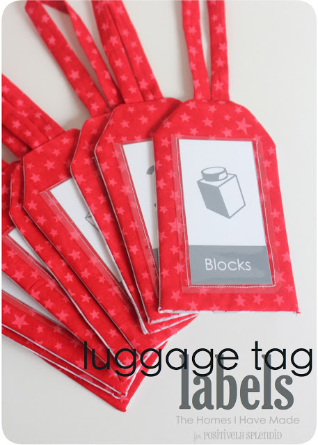 Luggage tab labels- can be easily sewn