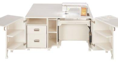 koala cabinet sewing cabinet white