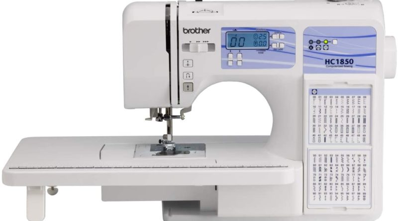 white Brother sewing machine- great sewing machine for beginners