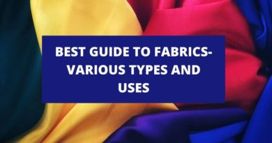 best Guide to fabrics poster