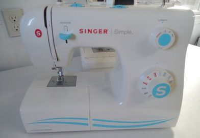 Example of a singer sewing machine to be threaded