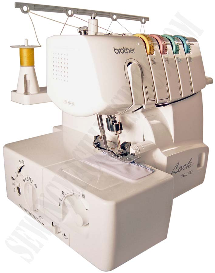 Brother 1034D Serger, cream color